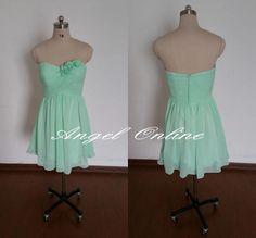 14a92238e38 Mint Green Bridesmaid Dresses-Short Bridesmaid Dress-Chiffon Bridesmaid  Dress-Summer Wedding Dress-Mint Party Dress-Ruffles Girls Dresses by ...