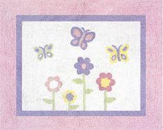 Butterfly Floor Pink & Purple Area Rug