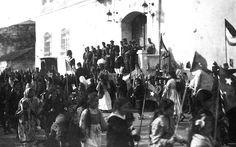 Parakalim i nxënësve të shkollave në Durrës, 1917 (Arkivi austriak)