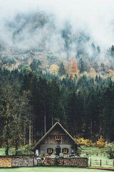 "alecsgrg: ""A cabin in the woods | ( by Jannik Obenhoff ) """