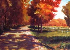 "Original art for sale at UGallery.com | Autumn Path, Colorado by Christopher Clark | $775 | oil painting | 18"" h x 24"" w 