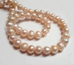 7-8mm freshwater pearl beads loose peach pearl pink pearl Pearl Beads, Pearl Necklace, Loose Pearls, Fresh Water, Peach, Beaded Bracelets, Trending Outfits, Unique Jewelry, Handmade Gifts