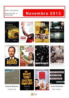 Novidades de cine e música na Biblioteca Os Rosales no mes de novembro.