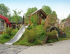 Outside Playground, Kids Backyard Playground, Water Playground, Cozy Backyard, Natural Playground, Playground Design, Backyard For Kids, Backyard Landscaping, Natural Play Spaces