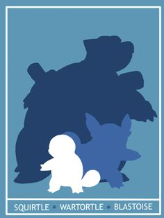 Pokemon Squritle - Blastoise Minimalist Poster by ~Mr-Saxon on deviantART
