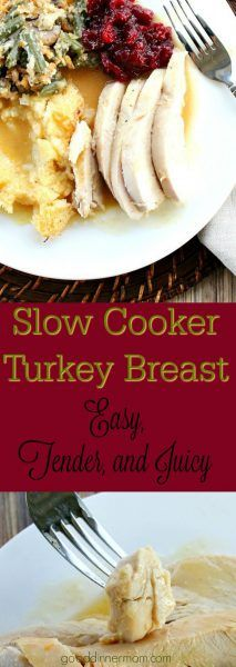 Turkey breast is foolproof tender and juicy in your slow cooker.