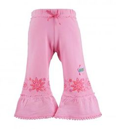 bobble lace trimmed embroidered capris in soul
