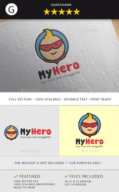My Hero Logo Template Vector EPS, AI. Download here: http://graphicriver.net/item/my-hero/12022818?ref=ksioks