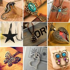 Ethnic Bohemian Necklace for Women Vintage Retro Copper Long Necklace Women Resin Owl Butterfly Necklace Pendant Jewelry