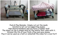 Pack N Play - Toddler Bed/Fort/Reading Nook