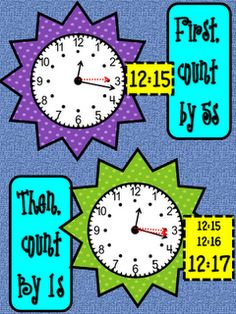 Mrs. Lemons is amazing!  Wonderful free anchor charts for teaching time.    stepintosecondgrade.blogspot.com