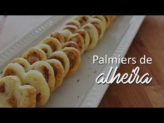 As Minhas Receitas: Palmiers de Alheira (receita também em video) Palmiers, Cereal, Food And Drink, Appetizers, Dinner, Breakfast, Youtube, Rolling Pins, Phyllo Dough