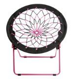 Ordinaire Saucer Chairs For Teens | RE Bungee Saucer Chair, Pink Black Dorm Room  Chairs,