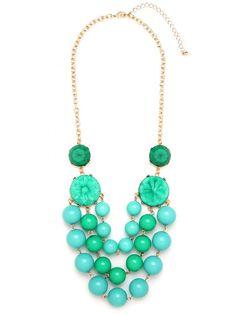 Layered Bubble Bib Necklace  Turquoise by UrbanAtticBoutique, $27.00