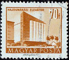 Building types of Grain elevator, Hajdunanas. Elevator, Buildings, Stamps, Hungary, Seals, World, Europe, Banknote, Postage Stamps