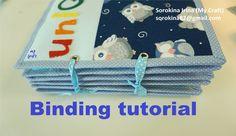 Quiet book binding tutorial / МК: переплет развивающей книжки