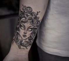 Medusa Hand Wrist special Tattoo Designs #tattooideas