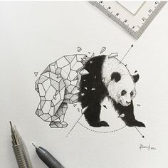 Geometric Beasts by @kerbyrosanes . Support his Instagram. ✨  Shared by Kitslam