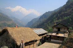 Annapurna from Landruk. Nepal.