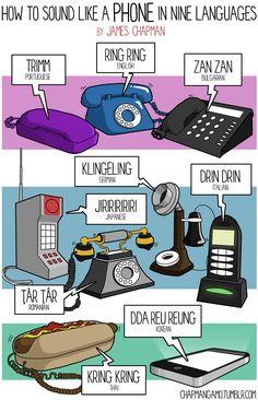 Cómo suena un teléfono en 9 idiomas  How to sound like a phone in 9 languages