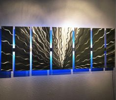 Color-Changing-LED-Modern-Abstract-Metal-Wall-Art-Sculpture-Painting-Decor-RGB