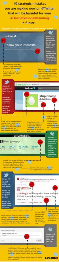10 errores que no debes cometer en Twitter para cuidar tu marca personal