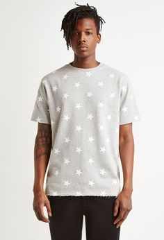 Star Print French Terry Tee