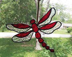 Gebrandschilderd glas Dragonfly zon Catcher