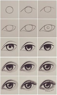Step By Step Eye Tutorial By Creative Carrah Cartoon Drawing