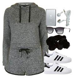 Sin título #12820 by vany-alvarado on Polyvore featuring polyvore fashion style Topshop adidas Originals River Island Ray-Ban clothing