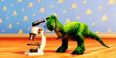 Pin for Later: Toy Story GIFs That Make You Feel All the Feelings When Rex is the cutest dinosaur scientist of all time.