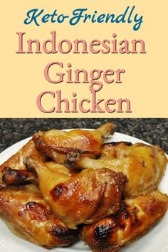 Keto-Friendly Indonesian Ginger Chicken Recipe that's easy (marinate overnight & bake the next day), super tasty, and good hot or cold (great for picnics). Bhg Recipes, Keto Recipes, Curried Couscous, Asian Seasoning, Marinated Chicken Recipes, Honey And Soy Sauce, Ginger Chicken, Tasty, Yummy Food