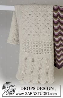 DROPS Blanket with pattern in Alpaca ~ DROPS Design