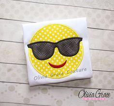 Cool Emoji Shirt, Girls Emoji, Boys Emoji, Smile Face Shirt, Texting Shirt, Boys Back to School Shirt, Embroidered Shirt