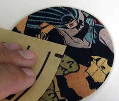 Crafts for men: comic book DIY coasters. - Mod Podge Rocks