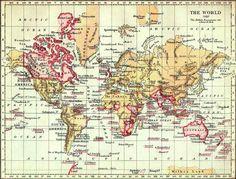El Imperio Británico en 1897, en rosa, que era el color en que se coloreaban los dominios británicos en los mapas.