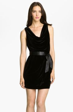 Cowl Neck Velvet Sheath Dress - Lyst