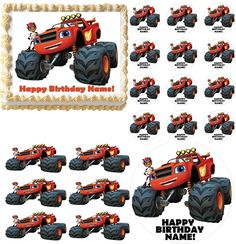 Blaze and the Monster Machines and AJ Edible Cake Topper Frosting Sheet Image!