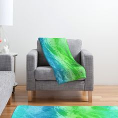 Laura Trevey Caribbean Sea Fleece Throw Blanket | DENY Designs Home Accessories