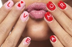 (29) valentine's day nail art | Tumblr