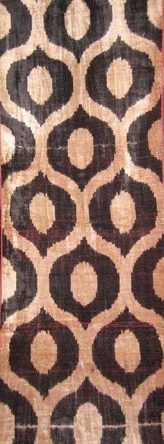 Uzbek ikat. Reminds me of my African kuba cloth.