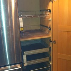 kitchen pantry with pull out shelves at ikea so handy