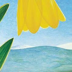Mount Jumbo Yellow Bells #art #artist #bells #bird #blue #bluebird #flowers #grass #landscape #limited-edition #missoula #montana #monte-dolack #mount-jumbo #mountain #rattlesnake #sky #wildflowers #yellow #yellow-bells #yellowbells