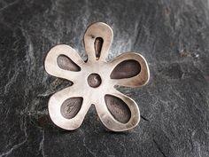 Sterling Silver Handmade Big Flower Ring by GlassHouseLampwork