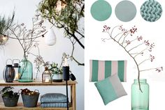 Stijlkaart: Zomerse tinten   Stek Magazine   House Doctor   Mint   Colors   Summer   V&D   Interior