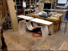 Beautiful table, Brick-layering with hard maple by Anderson Ranch Art Furniture, Unique Furniture, Wooden Furniture, Furniture Projects, Furniture Design, Wood Desk, Looks Cool, Wood And Metal, Decoration