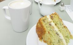 A local favourite that was once sold at a local cafe that sadly closed down. The lime filling is sweet and tart while the cake itself is soft and moist. Cake Recipes Uk, Lime Recipes, Sweet Recipes, Courgette And Lime Cake, Courgette Cake Recipe, Cooking Bread, Cooking Recipes, Marrow Recipe, Lime Cake Recipe