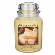 Lemon Pound Cake 26 oz. Premium Round by Village Candles | 26 oz. Premium Round Village Candles
