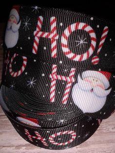 Ho Ho Ho Grosgrain Ribbon by RibbonstoBowsandMore on Etsy