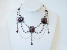 Amethyst Gothic necklace by ~xNatje on deviantART